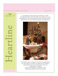 Online Newsletter of the Academy of the Sacred Heart December 2011