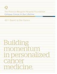The Princess Margaret Hospital Foundation ... - Charity Focus