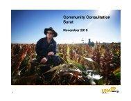 Community Consultation Surat - Arrow Energy