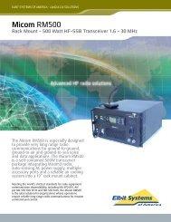 Micom RM500 ESA 4 11 - Elbit Systems of America