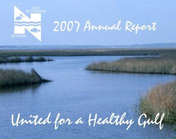 Cover Page Outside - Gulf Restoration Network