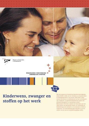Kinderwens, zwanger en stoffen op het werk