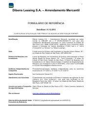 Índice - Relações com Investidores - Banco Itaú