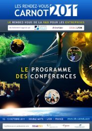 programme des conférences - inpi.fr: Rhône-Alpes Lyon