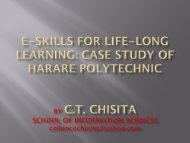 E-skills for life-long learning: Case study of Harare ... - EuroAfrica-ICT