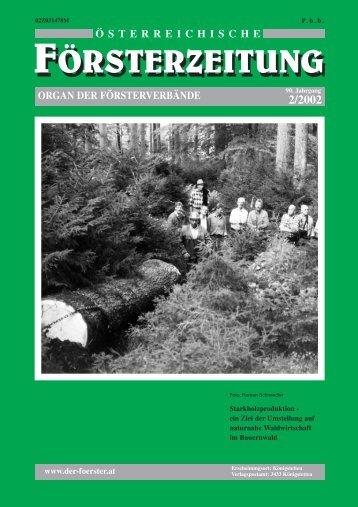 Ausgabe 2/2002 - Der Verband Österreichischer Förster