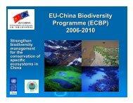 EU-China Biodiversity Programme (ECBP) 2006 ... - Equator Initiative