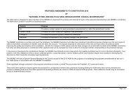 Proposed Amendments to the NEMBC's Constitution
