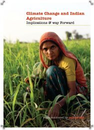 Climate Change and Indian Agriculture Implications & way Forward
