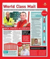 YOuR MOnThLY updATE On hOW COLLEAguES ... - myroyalmail