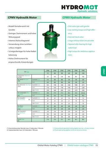 CPMV Hydraulik Motor CPMV Hydraulic Motor