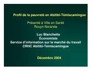 (Microsoft PowerPoint - Pauvret\351 - RHDC) - Ville de Rouyn ...