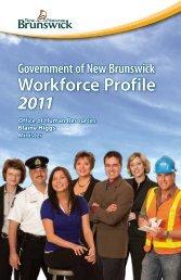 Government of New Brunswick Workforce Profile - 2011