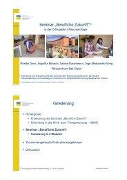 """Seminar """"Berufliche Zukunft"""" - Zentrum Patientenschulung"""
