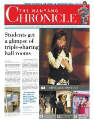 Students get a glimpse of triple-sharing hall rooms - Nanyang ...