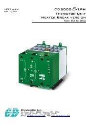 CD3000S-2PH Thyristor Unit Heater Break version