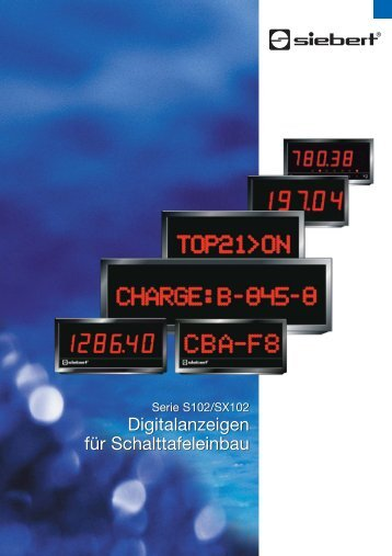 Digitalanzeigen für Schalttafeleinbau Digitalanzeigen für ...
