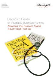 Diagnostic Review - Oliver Wight Americas