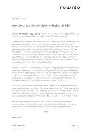 ruwido presents consistent design at IBC