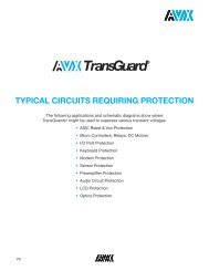 Typical Circuits Requiring Protection - AVX