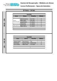 Exames de Recuperação – Módulos em Atraso Cursos Profissionais ...