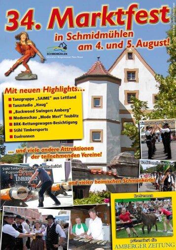 34. Marktfest in Schmidmühlen am 4. und 5. August!
