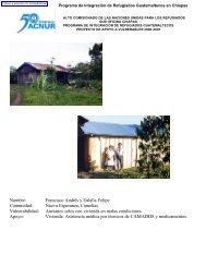 Programa de Integración de Refugiados Guatemaltecos en ... - Acnur