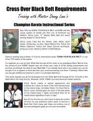 cross over student or Black Belt - Danny Lane Martial Arts Website