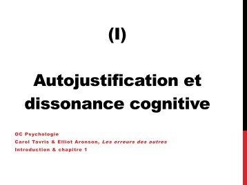 (I) Autojustification et dissonance cognitive - Ge.ch