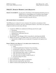 POLICY: BUDGET MODIFICATION REQUESTS