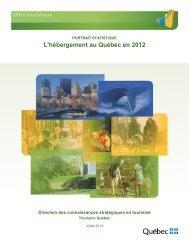 Document «L'hébergement au Québec en 2012 - Tourisme Québec