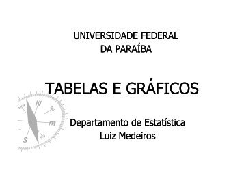 Aula 4 - Departamento de Estatística - Universidade Federal da ...