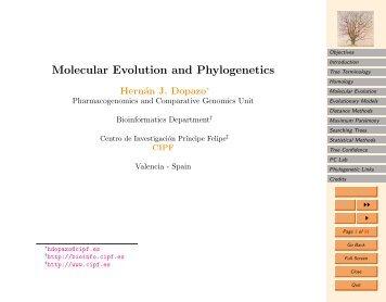 Molecular Evolution and Phylogenetics - CNB - Protein Design Group