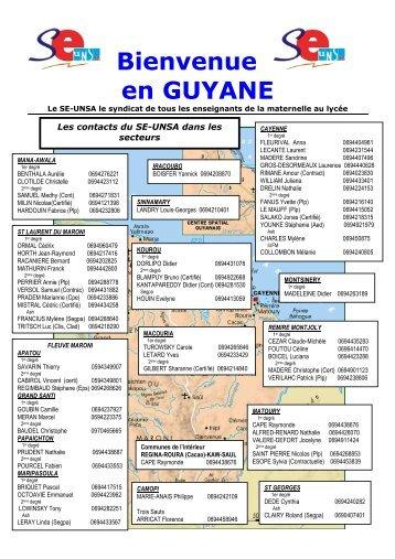 Dossier d'accueil en Guyane 2011 - Lettre d'informations - Se-Unsa