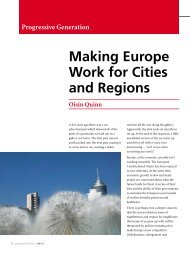 Making Europe Work for Cities and Regions - Policy Network