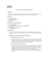 GUIA PARA FACTURACION DE SERVICIOS 1 ... - sedapal.com.pe