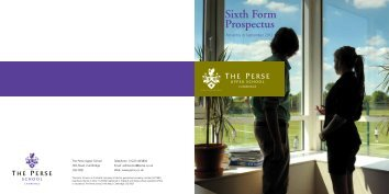 Sixth Form Prospectus - The Perse School