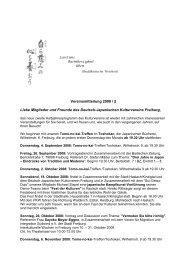 Vereinsmitteilung 2008 / 2 Liebe Mitglieder und Freunde des ...