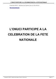 L'ONUCI PARTICIPE A LA CELEBRATION DE LA FETE NATIONALE