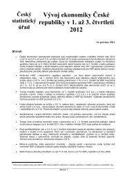 Vývoj ekonomiky České republiky v 1. až 3. čtvrtletí 2012 - Český ...