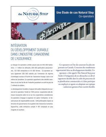 intégration du développement durable dans l ... - The Natural Step