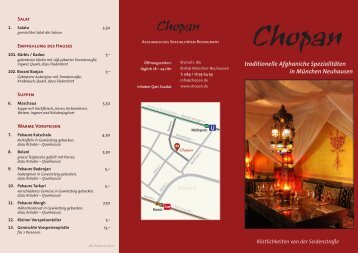 traditionelle Afghaniche Spezialitäten in München ... - Chopan