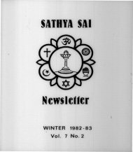 Winter 1982-1983 - USA Sai Organization
