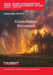 RBFRS Action Plan 2012/13 - Berkshire Fire Brigades Union