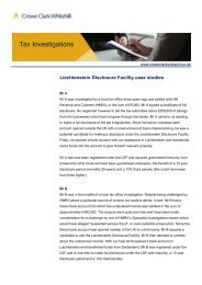 Liechtenstein Disclosure Facility - recent case studies