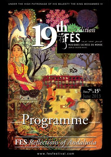 more information on the upcoming Fez Festival of World Sacred Music