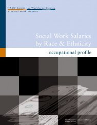 Social Work Salaries by Race & Ethnicity - Center for Workforce ...