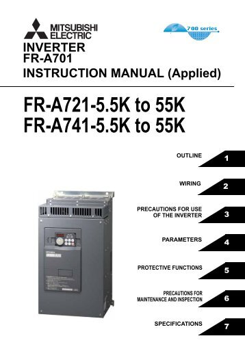 FR-A701 INSTRUCTION MANUAL (Applied) - Automation Systems ...