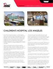 CHILDREN'S HOSPITAL LOS ANGELES - AMAG