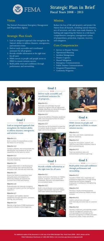 Strategic Plan in Brief - Federal Emergency Management Agency